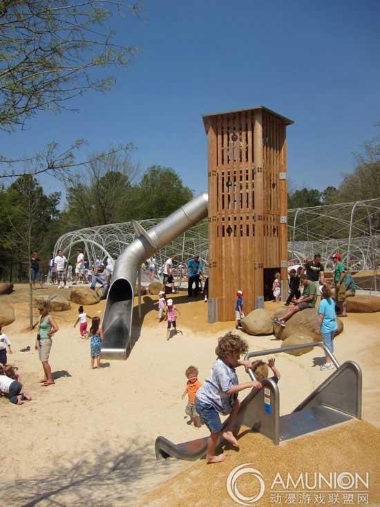 国外儿童乐园设计案例欣赏——美国林地探索游乐场