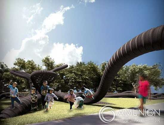 国外儿童乐园设计案例欣赏——南非轮胎儿童乐园