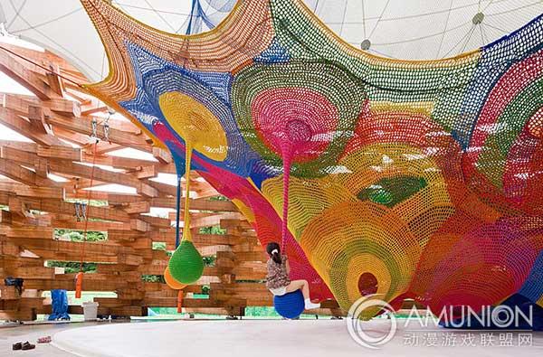 国外儿童乐园设计案例欣赏——日本原木儿童游乐场
