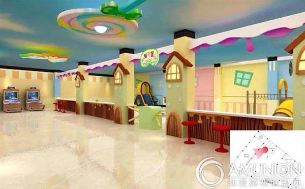 电玩城装修设计案例(糖果主题)