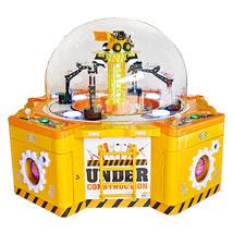 机械感十足的工程家族 久游:机械手挖糖机