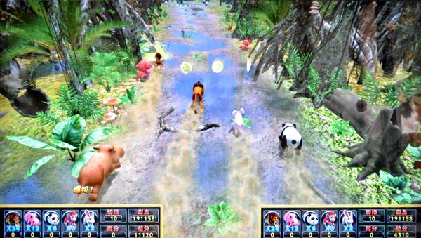 奔跑吧动物,一款老少皆宜、惊险刺激、备受玩家喜爱的彩票游戏机,现已通过省级文化行政部分内容审核的游戏游艺设备机台。  奔跑吧动物游戏机   奔跑吧动物游戏背景   每年魔法深林里面的小动物们都会举行一年一度的深林运动会。这天动物们聚集在魔法深林里的赛道上,准备开始动物运动会上最重头的赛跑比赛,比赛过程就在森林中弯曲的小路进行。比赛一共有五个动物共同参与进行,分别为狮子、河马、熊猫、猴子、兔子,他们必须通过全力奔跑争取第一,在比赛过程中可能意外常出,他们需要面对丛林中突然出现的各种险情,甚至比赛过程中会