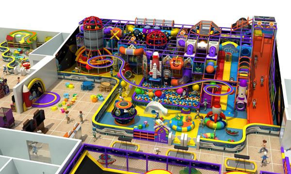 儿童游乐设备 儿童淘气堡 致乐淘气堡  淘气堡海洋主题系列整体效果图